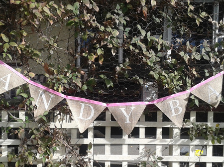 'CANDY BAR' hessian bunting