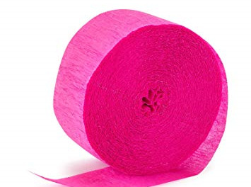 Candy pink crepe paper
