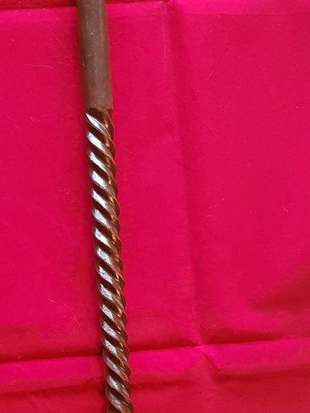 Cane 5B - Sheesham Wood Walking Cane with Large Beak Handle and Spiral Shaft