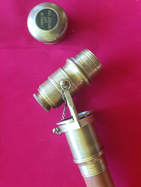 Cane 8 - Sheesham Wood Cane with  Functional Brass Telescope