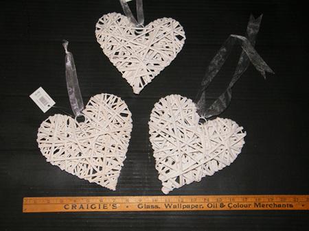 Cane Heart - Hanging 20cm