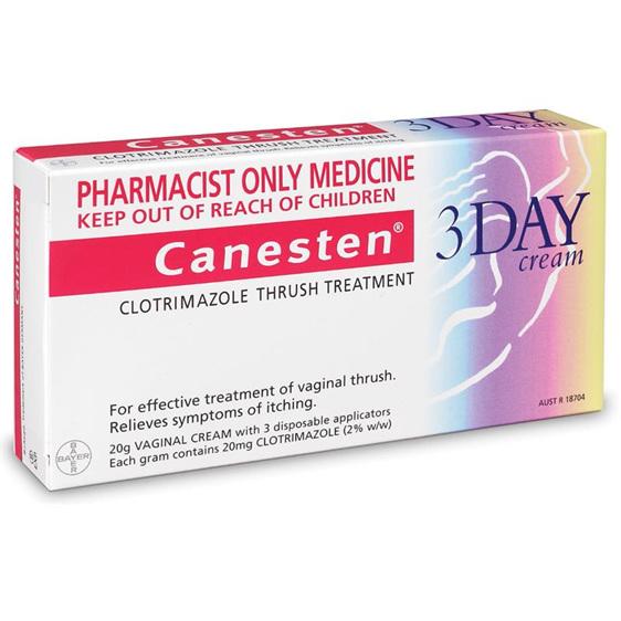 Canesten 3 Day Vaginal Thrush Treatment Cream 20g