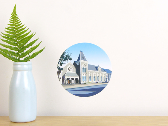 Canterbury Museum wall decal dot