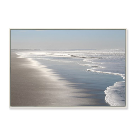 Canvas Clear Coastline Framed Print 90x60cm