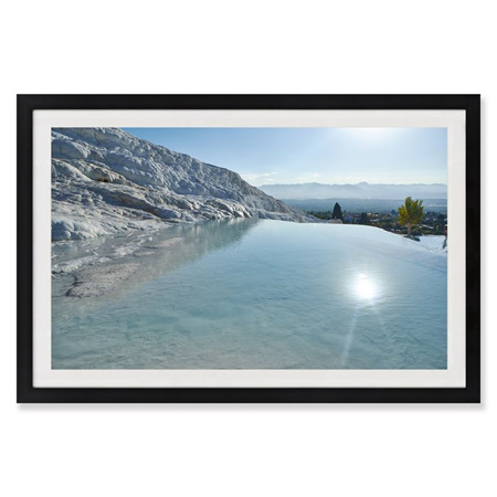 Canvas Crystal Waters Framed Print 90x60cm