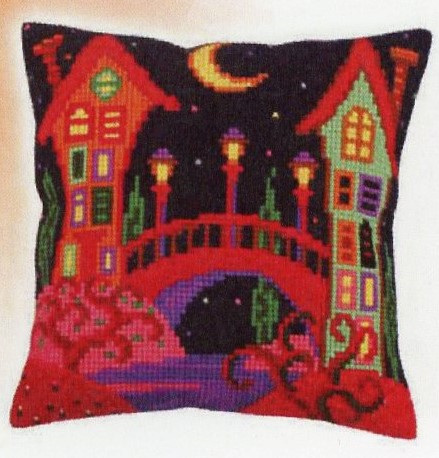 Canvas Cushion Kit - 2 Tall Houses (CDA5257)