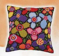 Canvas Cushion Kit - Flowers (CDA5259)