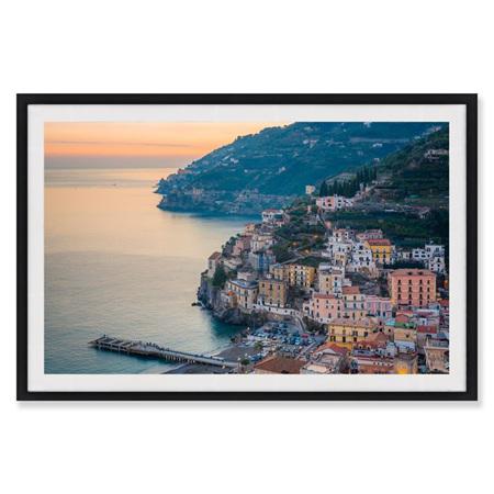 Canvas Italian Sunset Framed Print 90x60cm