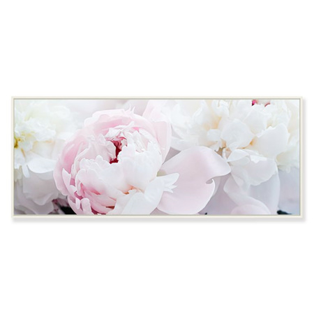 Canvas Pink Peony Framed Canvas Print 120x50cm