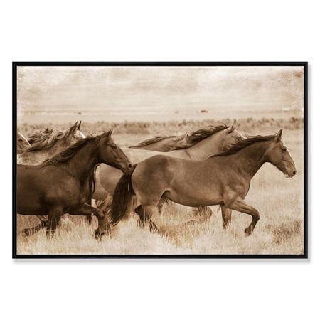 Canvas Power and Beauty Framed Print 90x60cm