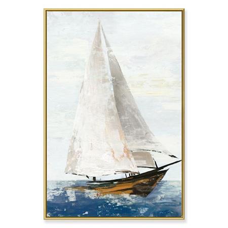 Canvas Traditional Yacht Framed Print 90x60cm