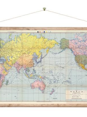 Canvas World Map Wall Hanging
