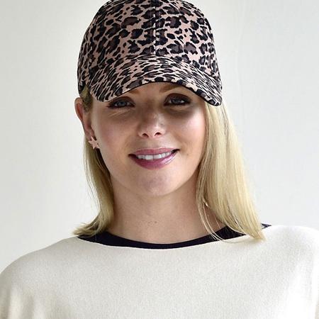 Cap - Leopard Print - Camel, Brown & Black
