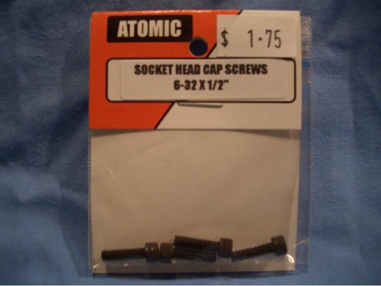 """Cap screw 6-32 x 0.5"""""""