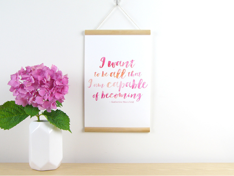 Capable quote canvas print
