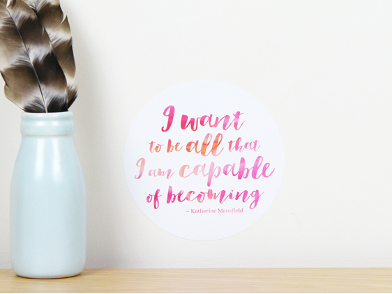 Capable quote dot wall decal