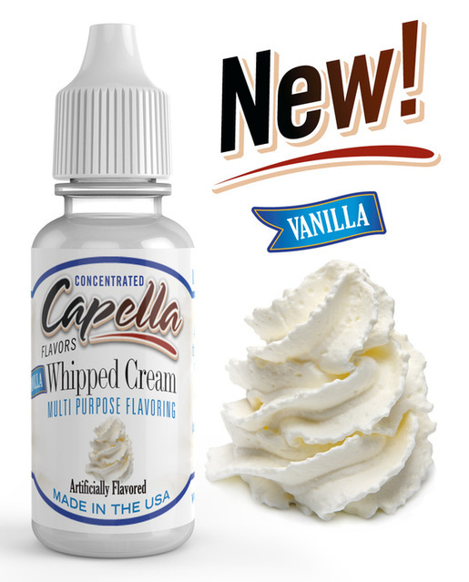 capella's Vanilla whipped cream concentrate