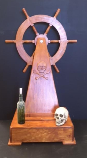 captain ship wheel pirate
