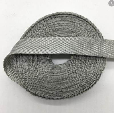 2.5cm Wide Grey Nylon Webbing