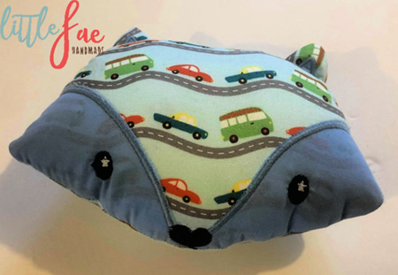 Car fox head soft toy
