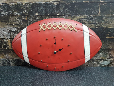 Carbon Rugby Ball Clock