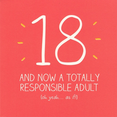 CARD - 18 RESPONSIBLE ADULT