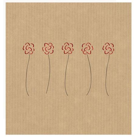 Card- 5 roses