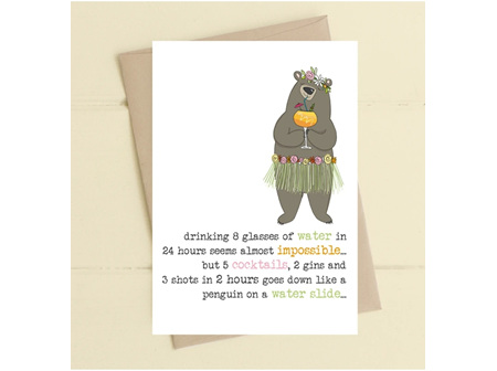Card 8 Glasses of Water