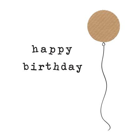 Card Birthday balloon