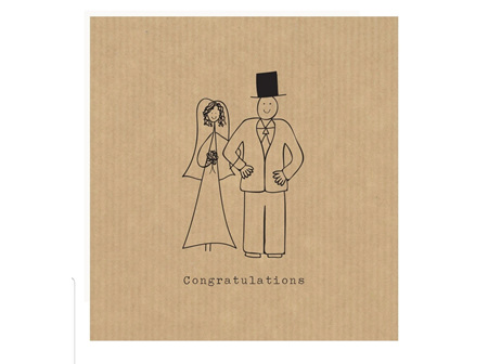 Card Bride and Groom