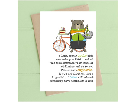 Card Cycle & cake