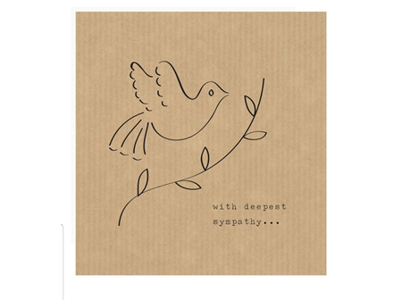 Card Deepest Sympathy Dove