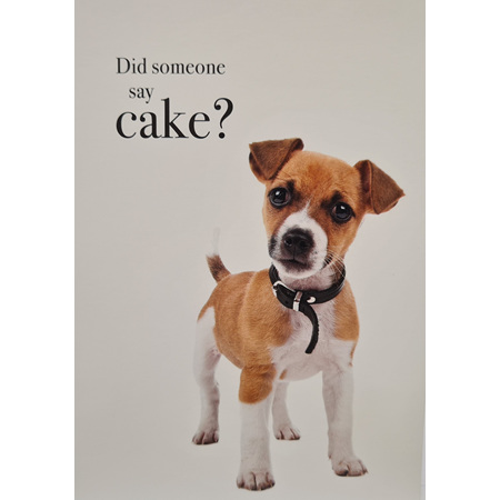 "Card ""Did Someone Say Cake?"""