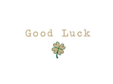Card Good Luck Clover