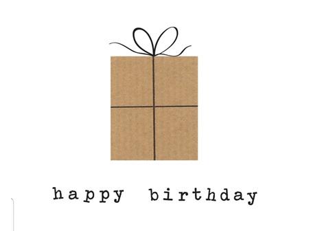 Card Happy Birthday Brown Present