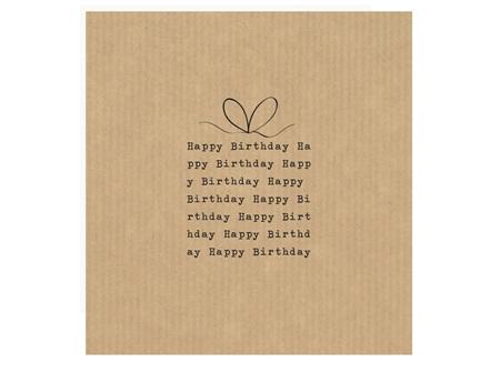 Card Happy Birthday Present Text