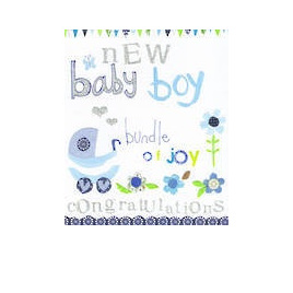 CARD JOY NEW BABY BOY