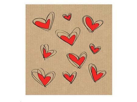 Card Multi Hearts
