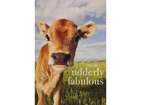 "Card ""Udderly Fabulous"""
