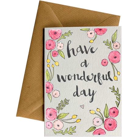 Card - wonderful day