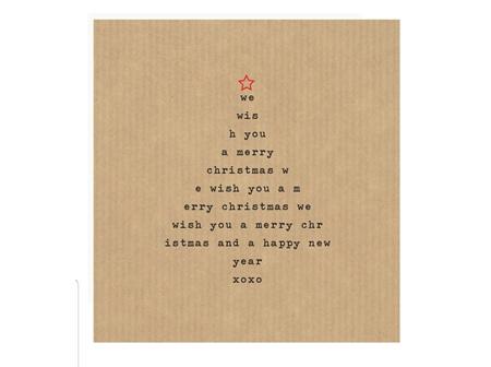 Card Xmas Tree Text