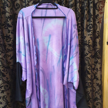 Cardi - Hand Dyed - Purples