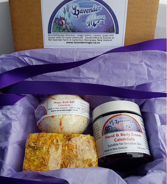 Care for Me Calendula gift pack from Lavender Magic