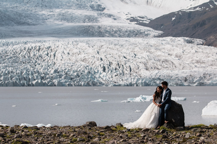 Carl & Evelyn's Iceland iceberg inspired engagement ring