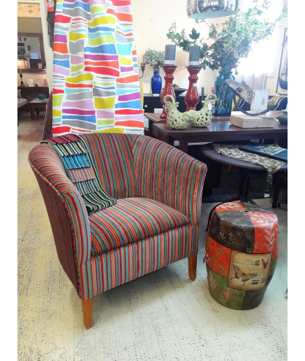 Carla Chair Upholstered  Designed and Made To Order New Zealand