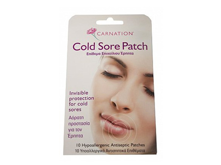 CARNATION Cold Sore Patch 10pk
