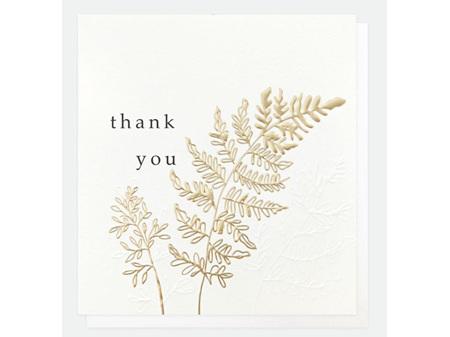 Caroline Gardner Gold Leaf Thank You Card