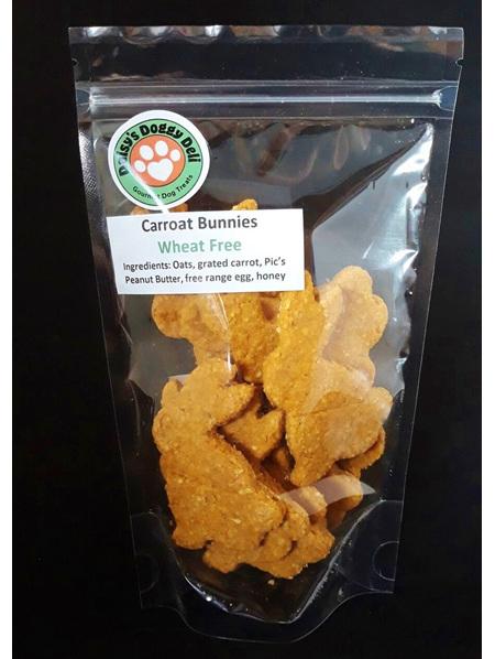 Carroat Bunnie Cookies - Dog Treats