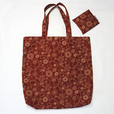 carry pouch | burgundy/white floral