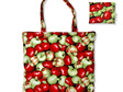 carry pouch red and green apple fabric